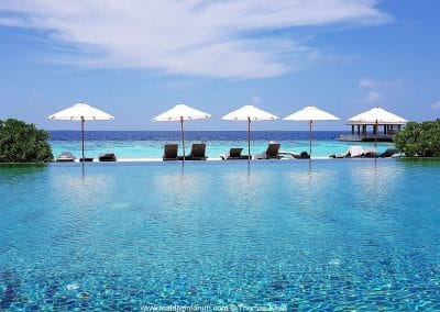 Kudafushi Ausblick vom Pool