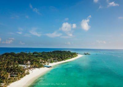 Fairmont Sirru Fen Fushi Island Arial