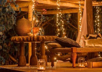 Fairmont Sirru Fen Fushi Dschungel Zelt Villa