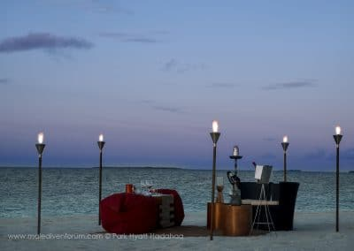 Park Hyatt Maldives Hadahaa Privat Beach Dinner