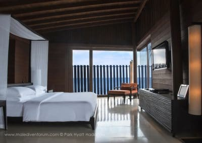 Park Hyatt Maldives Hadahaa Water Villa Bedroom