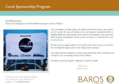Coral Sponsorship