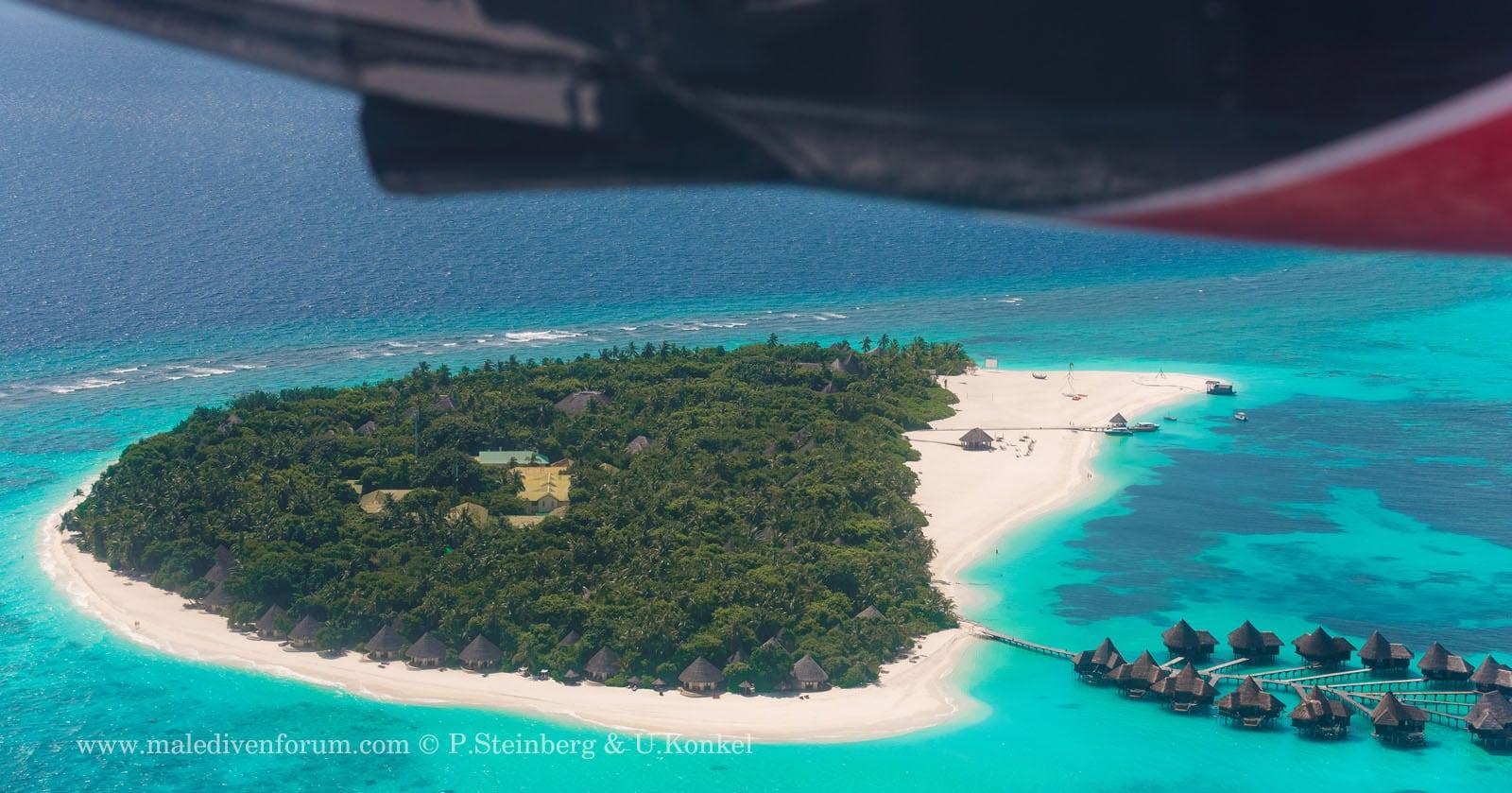 Anflug auf und um Coco Palm Dhuni Kolhu